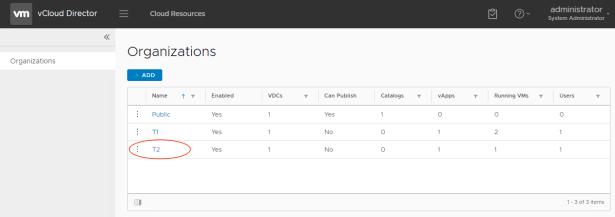 HTML 5 Tenant selection