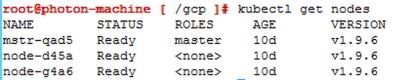 kubectl get node