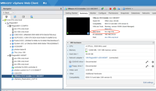 How to prepare the HCX environment (vSphere Cloud as the target) for